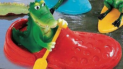 Floating animal Crocodile/Hippo in the shoe Assorted 22x11x12 cm Pond decoration