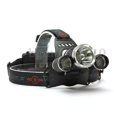 Elfeland 8000Lm 3x LED Rechargeable lampe frontale Headlight Light Lamp