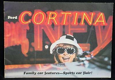 1966 Ford Cortina GT Dealer Brochure Full Color FORD Car Sports Car Flair
