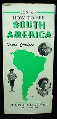 1950 Visit South America Cook Travel Brochure Advertising