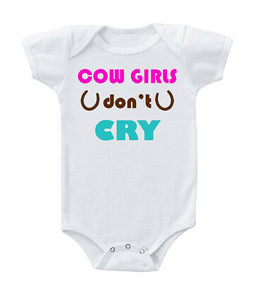Cow Girls Don't Cry Cotton Baby Bodysuit One Piece