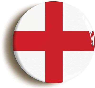 Size is 1inch//25mm diameter ENGLAND BADGE BUTTON PIN ST GEORGES CROSS
