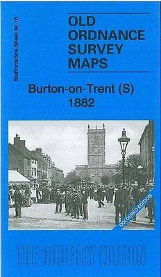 Old Ordance Survey Map Burton On Trent South 1882 Coloured Edition