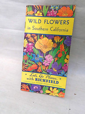 1932 Richfield Oil Gas Wild Flowers California Booklet & Government Inspection