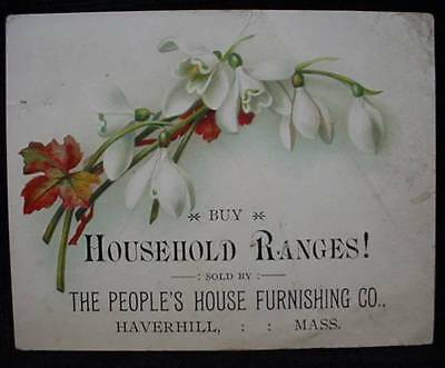 Trade Card Household Range Peoples Furnishing Haverhill