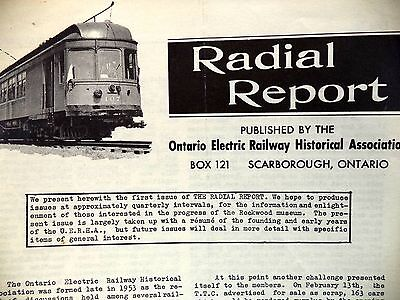 Radial Report Ontario Electric Railway Historical Association Leaflet 1961