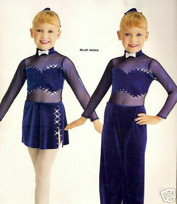 BLUE SKIES  Ice Skating Jazz Tap Dance Costume CS