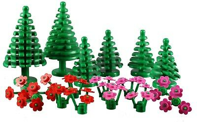 City Town Friends New Lego Plants Flowers Red With Stem x4
