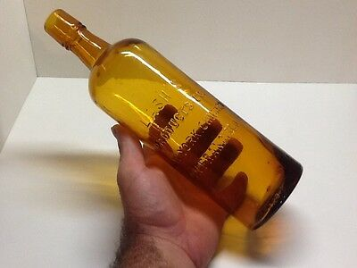 Antique Bright Yellow Amber Lash Products Co Bottle ( Bitters).