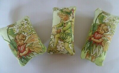 Pin Cushion Fairy Design Cotton choice of 2  in organza gift bag made UK New