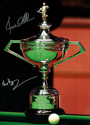 Ronnie O'SULLIVAN & Alex HIGGINS Signed Autograph 16x12 SNOOKER Photo AFTAL COA