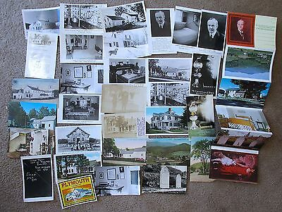 Lot of 40 CALVIN COOLIDGE POSTCARDS includes UNMAILED FOLDER of 12 Post cards