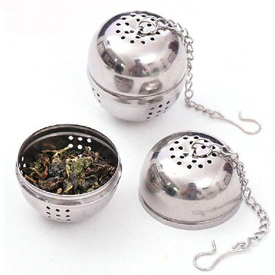 Tea Infuser Ball Mesh Loose Leaf Herb Strainer Stainless Steel Secure Locking