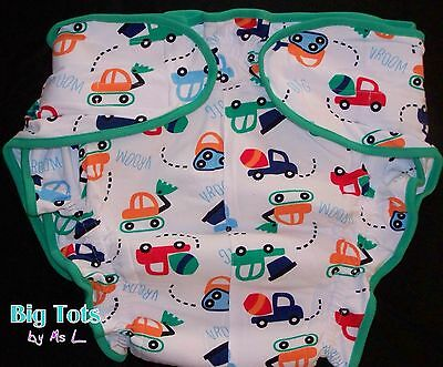 Adult Baby *NEW* Cotton fitted cloth diaper COBSTRUCTION *Big Tots by MsL**