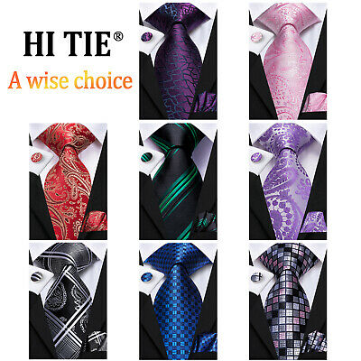 New Classic Red Black Blue 40 Color Mens Ties Silk Woven Necktie Formal Wedding