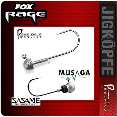 Fox Rage `POWER POINT´ Jig Head´s + SASAME-MUSAGA JAPAN