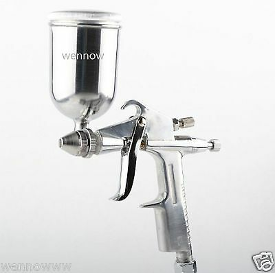 Mini 0.5mm HVLP Paint Spraying Gravity Air Feed Spray Gun Air Brush w/ 125ml CUP