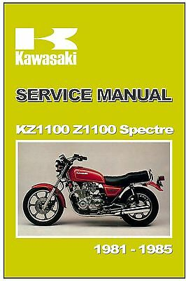 KAWASAKI Workshop Manual KZ1100 Z1100 Spectre LTD Shaft 1981 1982 1983 1984 1985
