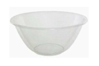 Clear Plastic Mixing Bowl Small 17cm Diameter x 8cm Depth Cooking Baking