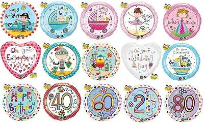 "18"" Foil Balloons Qualatex - RACHEL ELLEN Designs - All Occasions (Helium)"