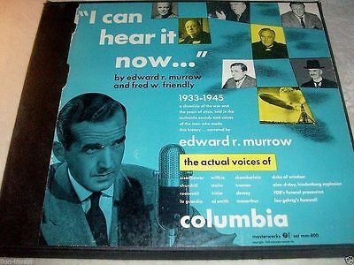 "EDWARD R. MORROW & FRED W. FRIENDLY ""I Can Hear It Now"" 5 Rec.Set WWII 1933-1945"