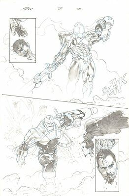 Secret Wars #7 p.7 - Mister Sinister's Head with Apocalypse - 2015 by Esad Ribic