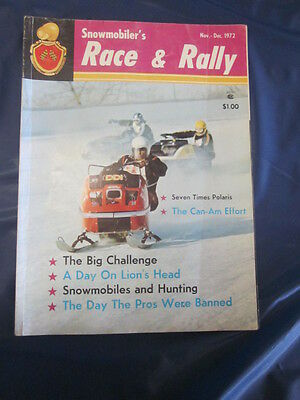 Vintage Race & Rally Snowmobile Magazine Nov-Dec 1972 I500 and much more