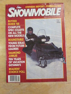 Vintage Snowmobile MagazineBuyer's Guide 1988 Owners Report  Ski Doo Formula MX
