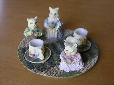 Foxwood Tales ? Miniature Children Display Tea Set Pot Cups Tray Hand Painted
