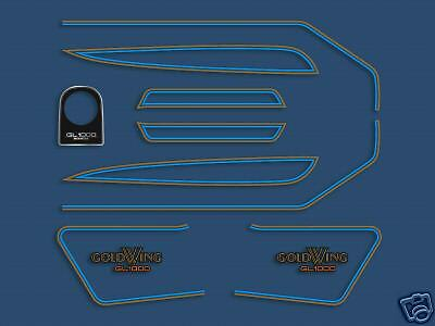 1977 Honda GL1000 Gold Wing - blue 11 piece decal set
