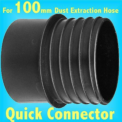 Quick Connector for 100mm Dust Extraction Hose Charnwood SIP Record extractor