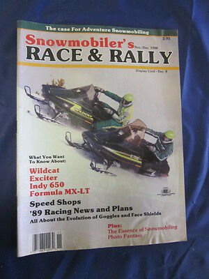 1988 Nov/Dec Race & Rally Snowmobile Magazine MX-LT Wildcat Indy 650 Exciter