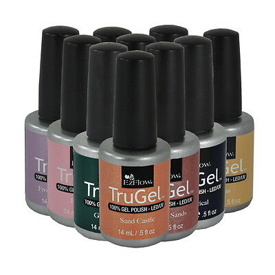 Ezflow TruGel Soak Off Gel LED UV Gel Nail Polish 0.5oz *Choose any 1 color*