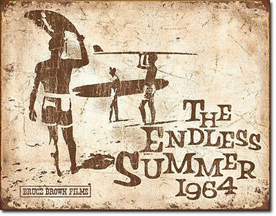 The Endless Summer Movie 1964 Retro Poster Tin Sign Reproduction, NEW UNUSED