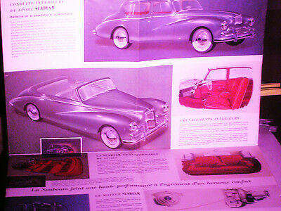 RARE DEPLIANT SUNBEAM MARK 3 1957 : BERLINE & CABRIOLET (french edit.)
