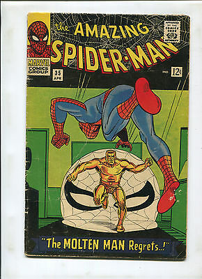 The Amazing Spider-Man #35 (4.5) 2Nd Molten Man Appearance!