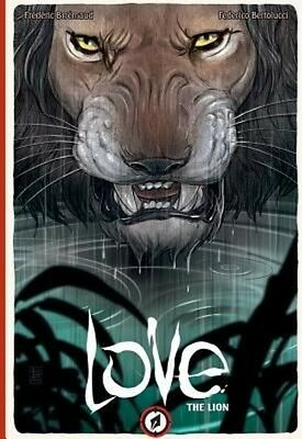 Love: The Lion by Frederic Brremaud Hardcover Book (English)