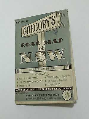 Gregory's Road Map of N.S.W - Free Postage