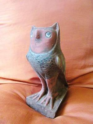 Unique Large RARE Antique Egyptian Statue of Ancient Standing OWL Bird