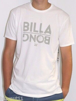 Men's Billabong White Flipped Surf T Shirt / Tee. Size S - 2XL. NWT, RRP $39.99.
