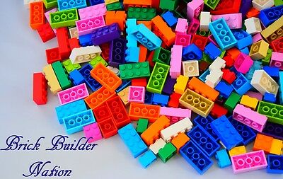 ☀️Lego 100 Bulk ALL BRICKS BLOCKS LOT Mixed Sizes Basic Building Pieces Mix #1