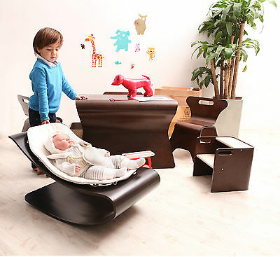 bloom coco baby lounger Babyliege Wippe cappuccino + Sitzeinlage in div. Farben