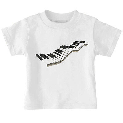 Music Piano Keyboard Cotton Toddler Baby Kid T-shirt Tee 6mo Thru 7t