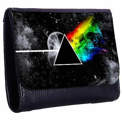 Stylized The Dark Side Of The Moon Tri-Fold Wallet w/ Button Pocket