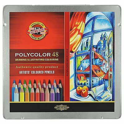 Pack of 48 Koh-I-Noor Polycolor Hexagonal Artists' Coloured Pencils