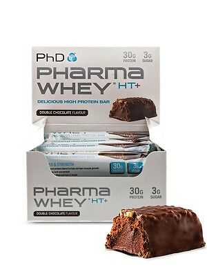 PhD Nutrition Pharma Whey HT+ Bars 12 x 75g Protein Bar