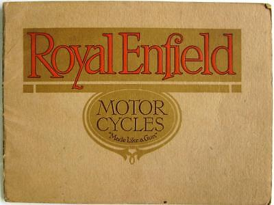 ROYAL ENFIELD Motorcycles - Motorcycle Sales Brochure - for 1916