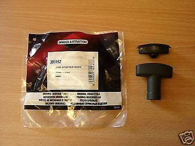 GENUINE BRIGGS AND STRATTON PULL RECOIL STARTER HANDLE 393152 pull handle