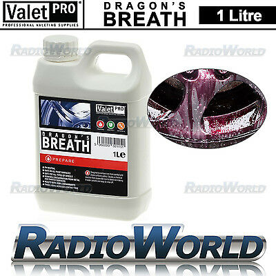 ValetPRO Dragons Breath NON-Acid Car Wheel Cleaner Iron X Fallout Remover 1L