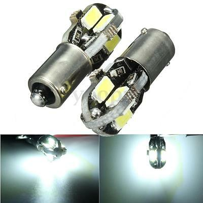 2x LAMPADINE H6W BAX9S 8 LED SMD 5730 CANBUS ERRORE FREE LUCI BIANCA AUTO 6000K